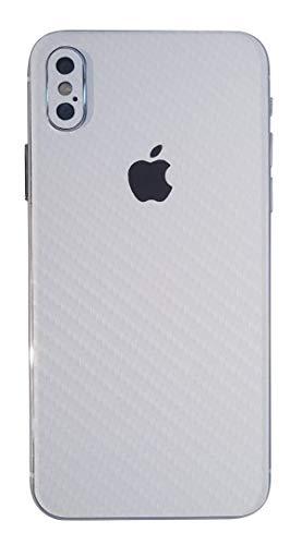 TKCase iPhone XS Max Skin Rückseite Schutzfolie Kratzschutz (Carbon Weiß)