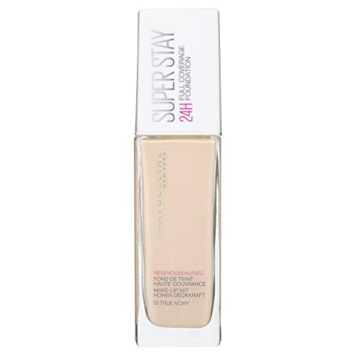 Maybelline New York Super Stay 24H Fondotinta Liquido Lunga Tenuta, 03 True Ivory