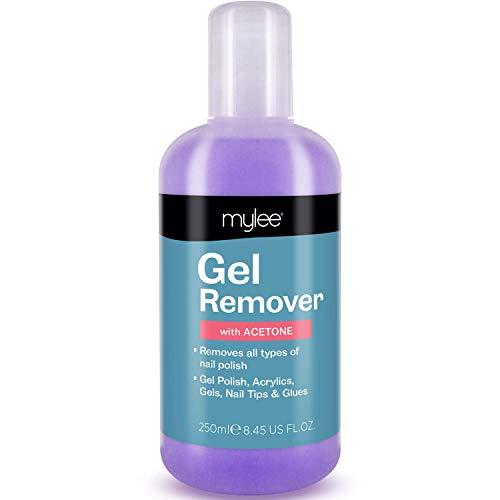 Mylee Gel Polish Remover Aceton 250ml, Salon Professioneller UV LED Nagellack Reiniger für Maniküre und Pediküre