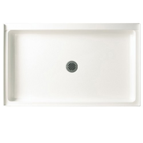 Swanstone R-3454-010 Veritek Center Drain Shower Base, 34-Inch by 54-Inch by 5-1/2-Inch, White