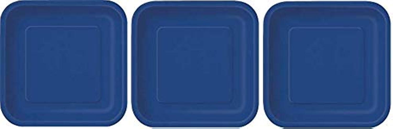 más vendido 14 platos de papel cuadrados de Color azul marino marino marino (23 cm) 3-(Pack)  venta con alto descuento
