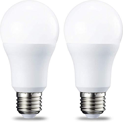 AmazonBasics Ampoule LED E27 A60 avec culot à vis, 10W (équivalent ampoule incandescente 75W), blanc froid - Lot de 2