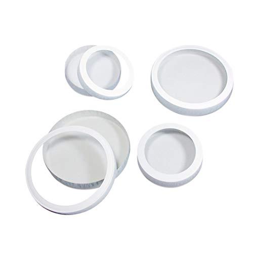 Base e coperchio per lanterna, rotondi. Per piccole lanterne rotonde. Formato: Ø 10,9 cm. Colore: Bianco Contenuto: 10 pezzi
