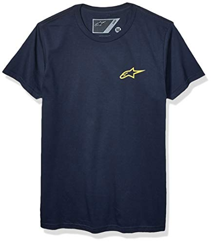 Alpinestars Tea Nueva Ageless Camiseta, Marino/Oro, M para Hombre