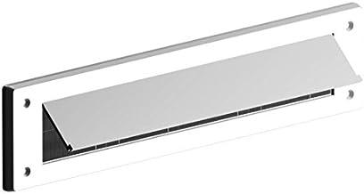 Bulk Hardware BH05982 Brievenbus Borstel Draught Excluder met Flap, 343 x 80mm (13.1/5.1 cm x 3.1/20.3 cm) - Wit Kleur: wit
