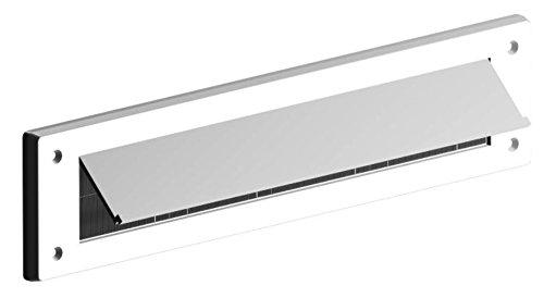 Bulk Hardware bh05982Buchstabe Briefkasten Bürste Zugluftstopper mit Klappe, 343x 80mm (13,1/5,1cm X 3.1/20,3cm)–Weiß