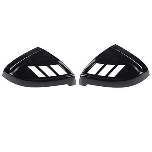 ZST-DM Tapa De Espejo Retrovisor, 2 Piezas De Cubierta De Puerta Lateral De Coche, Cubierta Lateral De Mrror para Audi A4 S4 Rs4 A5 S5 Rs5, Todos Los Modelos 2017-2020, Negro Brillante