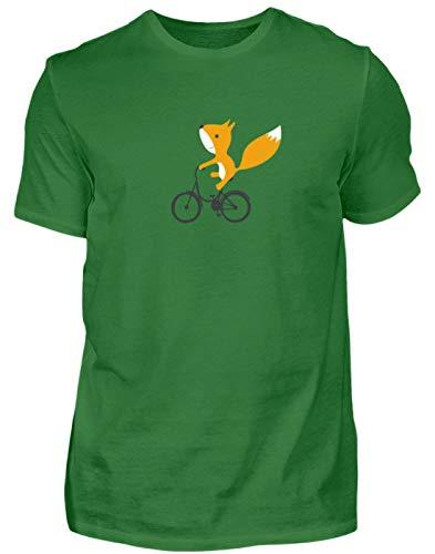 Maglietta organica da uomo con scoiattoli su bicicletta Kelly Verde L
