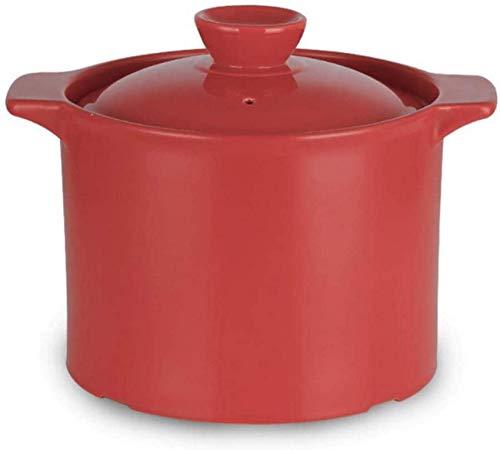 YWYW Olla para cocinar, Olla para Sopa, Cacerola, Olla para cocinar, Olla para Sopa, Olla para guisar, Olla para cocer, Olla para estofado, Terracota - Sopa No-Go, fácil de Verter, Agarre cómodo