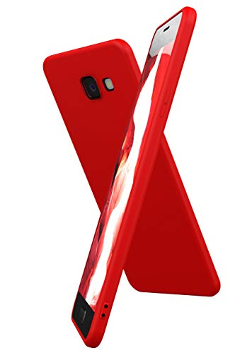 OneFlow Cover Flessibile SlimShield PRO Compatibile con Samsung Galaxy A5 (2016) | Silicone e TPU, Rosso