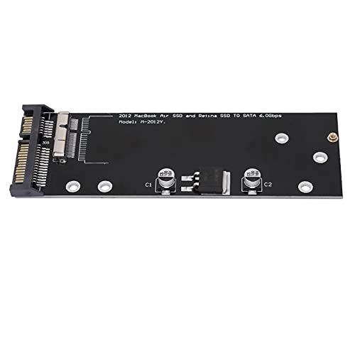 Shipenophy Sin ningún Adaptador de Controlador Útil Tarjeta de conversión Profesional de Cuerpo pequeño SSD a SATA Luz de Rendimiento Estable para Pro A1398 A1425 Air A1466 A1465