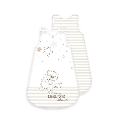 Lieblingsmensch Baby-Schlafsack - ganzjährig - umlaufender Reißverschluss Druckknopf (90 cm)