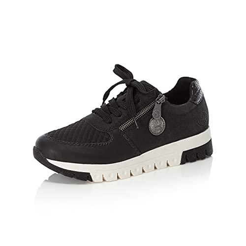 Rieker Damen Low-Top Sneaker L2934, Frauen Sneaker,Woman,Lady,Ladies,Halbschuhe,straßenschuhe,Strassenschuhe,Sportschuhe,schwarz (00),39 EU / 6 UK