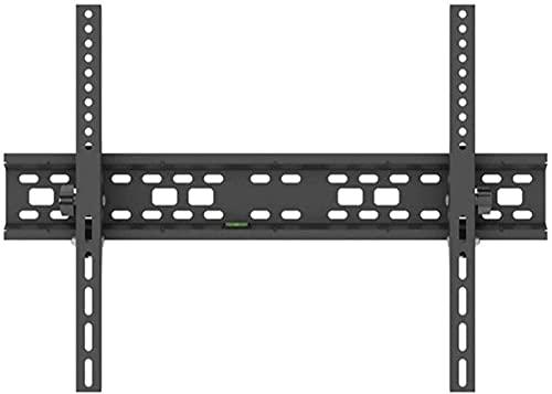 Soporte de pared para TV inclinable, resistente y resistente, soporte de pared para TV plano para televisores de 32-70 pulgadas, capacidad de peso de 50 kg, máx., 600X400 mm con nivel de burbuja