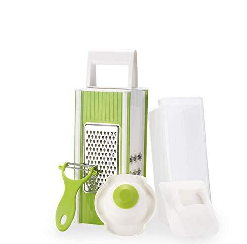 TYZY Gemüseschneider Julienne 4 IN 1 Multifunktions-Allesschneider Kostenlose Entfernung zur Installation der Edelstahlklinge mit Handschutz