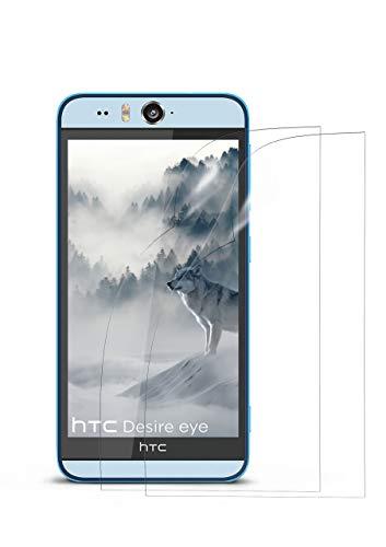 MoEx® Kristallklare HD Schutzfolie passend für HTC Desire Eye | Premium Bildschirmfolie - Kratzfest & Fast unsichtbar - Ultra Klar