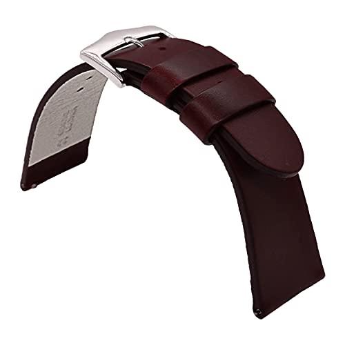 Correa de reloj de cuero marrón para hombres y mujeres correa de reloj de cuero de liberación rápida 20mm banda de reloj de cuero de vaca reloj pulsera