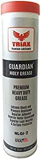 TRIAX GUARDIAN HD EP Grease with Moly - True Multi Purpose - Wheel Bearings, Shock Loaded Parts, Extremely Tacky, 400 F Drop Point, Zero Separation - Ultimate Heavy Duty Grease(14 oz tube (Pack of 1))
