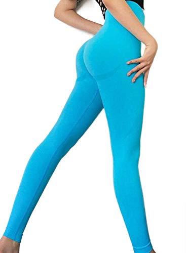 FOBEXISS Pantalones de yoga de cintura alta para mujer, para levantamiento de glúteos, para deporte, entrenamiento, control de barriga, para entrenamiento, gimnasio, yoga, pantalones elásticos