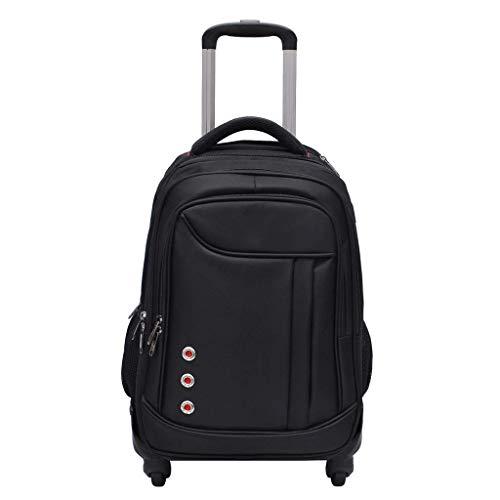 DYYTR Trolley Backpack Zaino con Ruote ruotato Business Bag Campus Scuola Zaino Bagaglio Portatile Bagaglio Samsonite Cabina Valigia