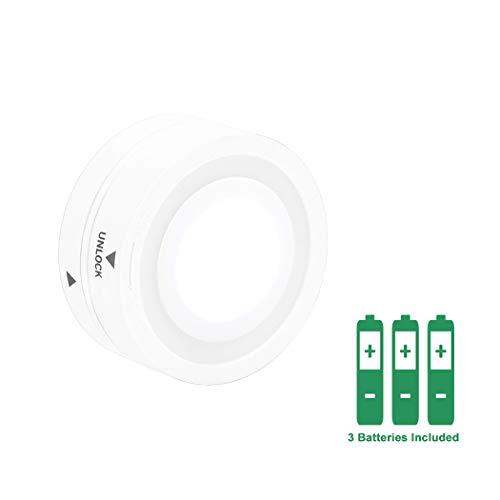 Una Sola Lampara Luz Fria Color de Iluminacion para EN-M007-02 Lampara de Noche Luces Nocturnas Bajo Muebles Armario de LED Bateria, Baterias Incluidas, Control Remoto No Incluido de Enuotek