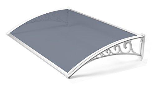 Greenhurst wit gemakkelijk te monteren 1m getinte deur luifel, 100x60x0.16 cm