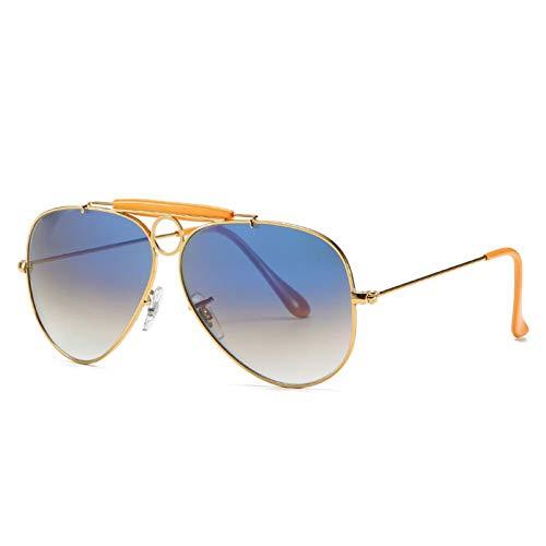 WJJH Gafas de Sol polarizadas de Moda de Vidrio Classic Men's Big Frame Sunglasses Driver Driving Gafas de Sol Saplo Espejo,J6