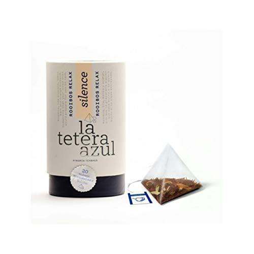 LA TETERA AZUL Infusión De Rooibos Premium Con Tila, Melisa Y Azahar. Infusión Relajante. Rooibos Relax. Bote De 20 Pirámides.