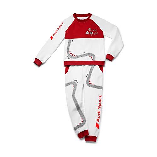 Audi Sport Schlafanzug Racing, Kinder, weiß/rot, 134/140