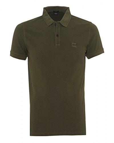 BOSS Orange Slim-Fit Poloshirt Prime Aus gewaschenem Baumwoll-Piqué Dunkelgrün 302 (XXL)