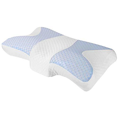 Brushed Almohada Cervical Almohada de Contorno para el Dolor de Cuello, Almohada de Apoyo Cervical para Dormir para Dolores de Cuello, estómago y Personas Que Duermen de Lado y Cajas de Almohadas