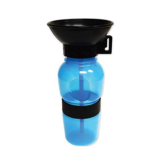 Baoii Dog Water Bottle Squeezable Anti-spill Pet Dog Drinking Bottle 500 ml Travelling Drinking Bowl Portable Pet Drinking Feeder(Blue)