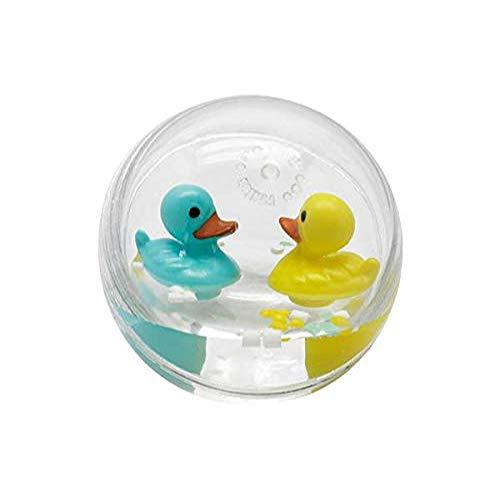 Bass & Bass B38206 Baby Enten Water Ball 7 cm Badespielzeug, Mehrfarbig