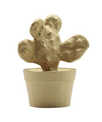 Décopatch AC394O letter fantasie van papier-maché, 5 x 22 x 23 cm, om te versieren, ideaal voor uw woondecoratie, kartonbruin Cactus. ca. 9 x 13 x 16 cm 5 X 25 X 29 Cm