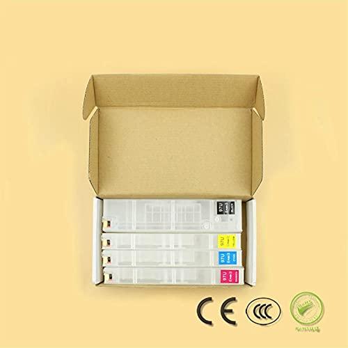 Accesorios de impresora aptos para HP 970971 970XL 971X Cartucho de tinta de recarga vacío con chip ARC apto para HP Officejet X451dn X451dw X551 X576dw X476dw X476dn (Color: A set ARC chip 4pcs)