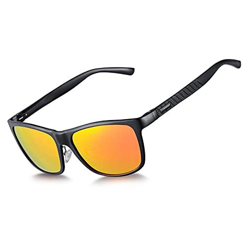 Coloseaya Gafas de sol polarizadas UV400 para ciclismo,  ciclismo,  viajes,  deportes al aire libre,  golf (Orange)