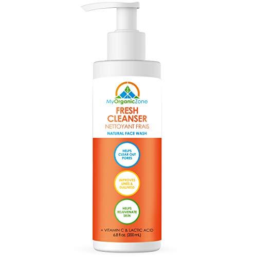 Limpiador fresco con vitamina C para lavar la cara y reducir las arrugas, limpia los poros y las imperfecciones de la piel (200ml / 6.8fl.oz.)