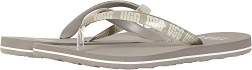UGG Damen Simi Graphic Logo Zehentrenner Beige 40