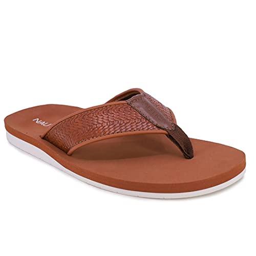 Nautica Men's Flip Flop Water Slippers Casual Beach Sandals-Ballast-Brown-11