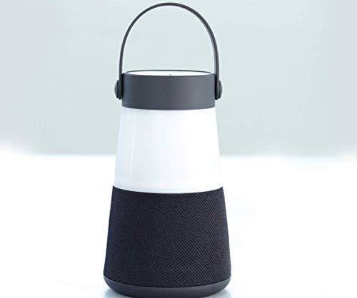 VINCEN Tragbare Drahtlose LED-Camping Lampe Mit Bluetooth-Lautsprecher, USB-Aufladbare LED-Zeltlicht, wasserdichte Camping-Laterne Für Camping, Outdoor, Wandern, Berg,Black