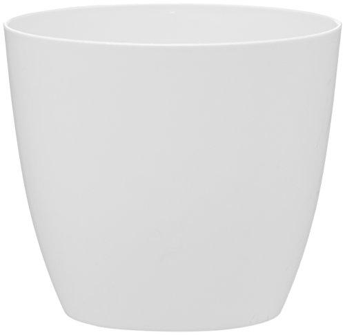 Plastkon Décoration Pot Ella Mat Diamètre 11 cm, Blanc