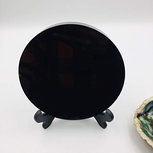 ACEACE Regalo Natural Negro Obsidiana Bola de Cristal Espejo