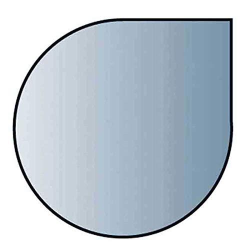 Glasbodenplatte 8 mm Stärke, 110 x 110 cm, Tropfenform 21.02.884.2 Glasplatte Funkenschutz Platte Kamin Ofen Kaminöfen Lienbacher Vorlegeplatte Bodenplatte ESG Sicherheitsglas