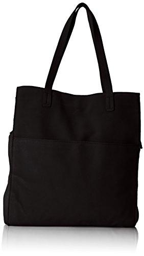 PIECES Damen Pcgwen Suede Shopper Schultertasche, Schwarz (Black), 5x35x55 cm