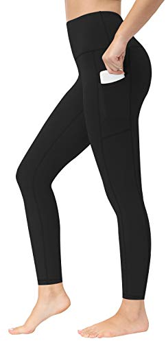 Fengbay High Waist Yoga Pants, Pocket Yoga Pants Tummy Control Workout Running 4 Way Stretch Yoga Leggings Black