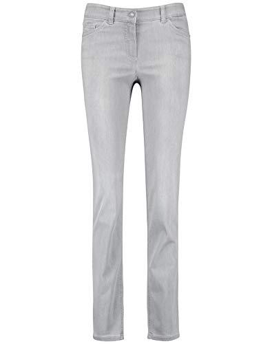 Preisvergleich Produktbild Gerry Weber Damen Figurformende Hose Best4me Kurzgröße Schlanke Passform Grau Denim 44S