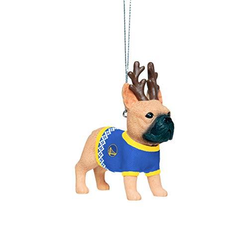Golden State Warriors NBA French Bulldog Wearing Sweater Ornament