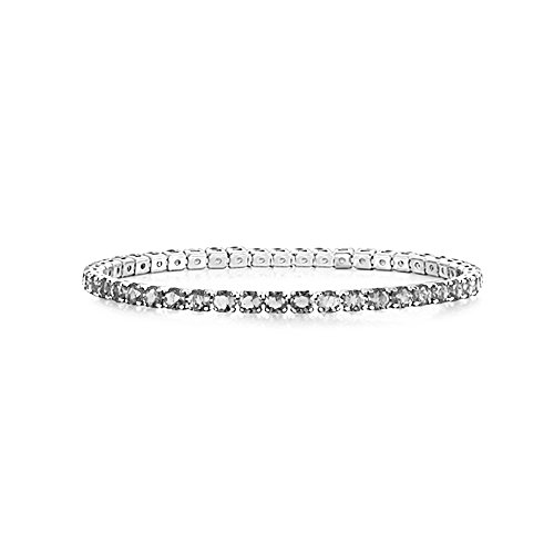 AKKi jewelry Damen Armband Versilbert Strass Armreif Armkette Schmale Dünne Glitzer Kinder Bänder 3mm Wert #17