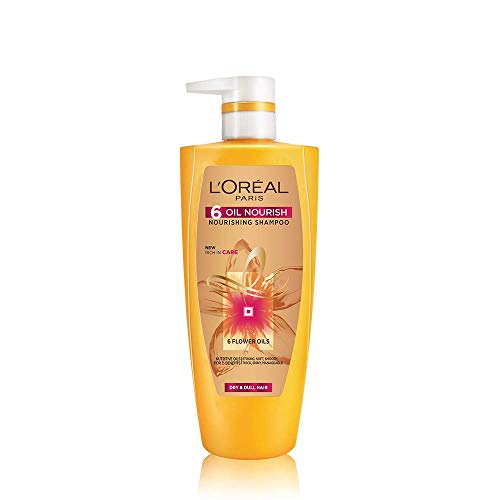 L'Oreal Paris 6 Oil Nourish Shampoo, 640ml (With 10% Extra)