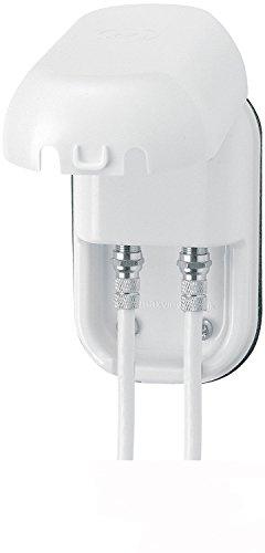 Maxview B2007Twin wetterfest Outdoor Sockel mit Twin F Verbindungen–Weiß